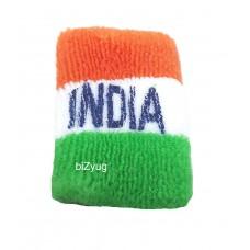 biZyug Tricolor Tiranga Flag Wrist Band