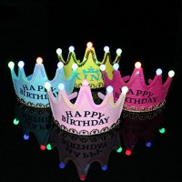 Birthday Crown LED Flashing Happy Birthday Printed
