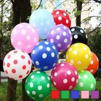 Polka Dot Printed Balloon ( Pack of 12 )