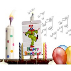Surprise Banner Musical Candle & Reusable