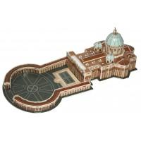 biZyug DIY 3D Puzzle Basilica di San Pietro in Vaticano 61 pcs