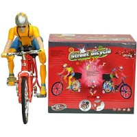 biZyug Street Bicycle Battery Operated Musical Cycle Toy for Kids