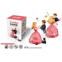 biZyug Dancing Couple Angel Doll and Prince Tango Dance with Light and Music