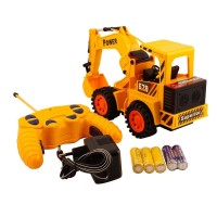 biZyug Cheetah Remote Control and LED Flash Lights JCB Plastic Truck