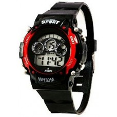 Sports Light Digital Red Wrist Watch for Kid