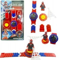 biZyug Spiderman Watch with Spinner and Adjustable Chain