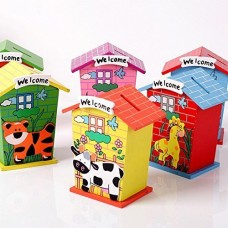biZyug Wooden Animals Coinbank for Return Gift
